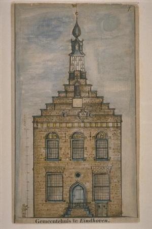 eigendom van het oude stadhuisje - de historische en eigentijdse